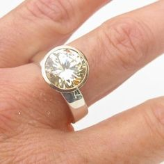 Cream manmade diamond cup ring - Debra Fallowfield makes jewellery to fall in love with … Crafting every piece entirely by hand..