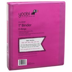 1 Inch Binder with D-Rings - Pink by Yoobi