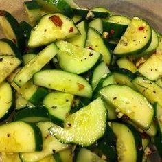 Sweet 'n Spicy Cucumber Salad [by Kayleigh from Beyond Diet]^ Beyond Diet Recipes, Healthy Diet Recipes, Clean Eating Recipes, Veggie Recipes, Real Food Recipes, Salad Recipes, Healthy Snacks, Healthy Eating, Cooking Recipes
