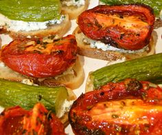 Roasted tomato and cucumber tea sandwiches paired with a hand-muddled Upper East Sider, make for the perfect summer afternoon cocktail party.