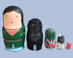 Boosh nesting dolls - so creepy, but so awesome