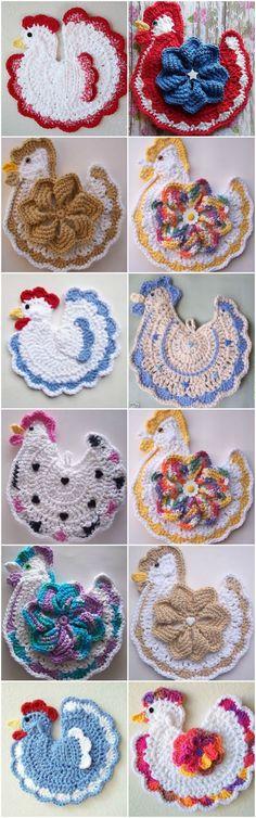 Crochet Chicken Potholder