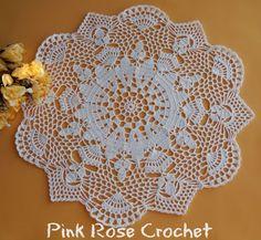PINK ROSE CROCHET: White Sapphire Doily