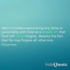 Shirk is an unforgivable sin. O Allah protect us from shirk.