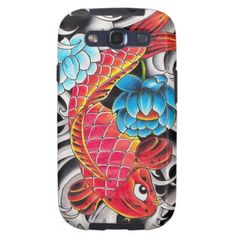 Cool oriental japanee Red Koi Carp fish Blue Lotus iPhone 5 Covers by TheGreatestTattooArt Cool Iphone 5 Cases, Cool Cases, Iphone Case Covers, Iphone 4, Galaxy S3 Cases, Samsung Galaxy S3, Galaxy S2, Red Lotus Tattoo, Koi Carp Fish