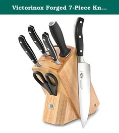 Victorinox Forged 7-Piece Knife Set with Block. From the inventors of the famous Swiss Army knife comes a line of fine cutlery designed for accomplished and aspiring chefs at work or in the home. The Forged line gets its name from the construction of the knives' blades, which are hot-drop forged in Germany from high-carbon stainless steel. High-carbon steel provides maximum sharpness and edge retention. The knives are finished in Switzerland and ice tempered to sustain sharpness longer…