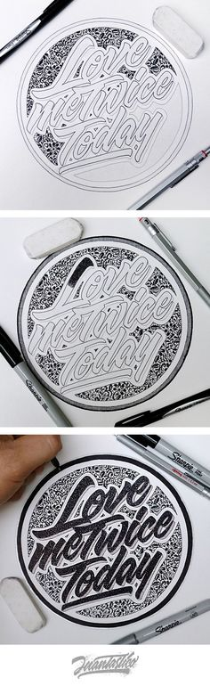 _ and his amazing lettering (Always the best quality) Types Of Lettering, Lettering Styles, Brush Lettering, Lettering Design, Creative Typography, Graphic Design Typography, Calligraphy Letters, Typography Letters, Hand Drawn Type