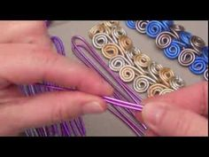 Tutorial on how to make a bracelet, and ring, with colorful aluminum wire. I like the bracelet, but would prefer it in silver or copper wire.  The rings, I could do without.