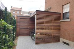 Outdoor Storage Units, Bicycle Wallpaper, Pool Shed, Carport Designs, Bicycle Painting, Electric Gates, Bicycle Storage, Bike Shed, Bicycle Design