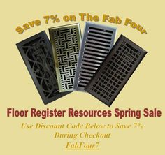 SPRING SALE - Save 7% on our most popular designs! Running from 3/5/13-3/24/13. Start redecorating from the floor up!