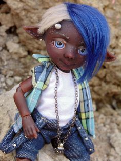 "Resin BJD doll author Faun ""TJ"" 16 cm, Full set, ball jointed doll, elf by BJDSvetaDolls on Etsy"
