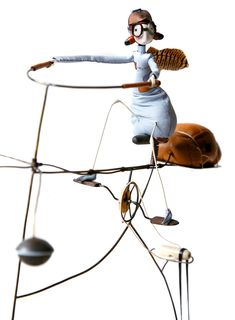 Desire to Fly: Samantha Bryan's Hand-Crafted Sculptures of Whimsical Aviator Fairies Going about Their Daily Lives  http://www.thisiscolossal.com/2014/10/desire-to-fly-samantha-bryan/