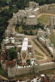 St George's Chapel with Round Tower and Windsor Castle, Windsor, England