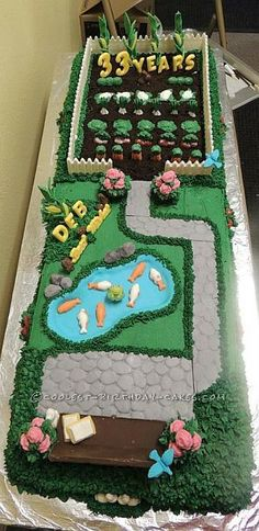 Coolest Tranquil Garden Cake ... This website is the Pinterest of birthday cakes
