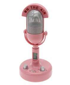 Google Image Result for http://www.hipsterchic.com/wp-content/uploads/2010/04/retro-pink-microphone-alarm-clock.jpg