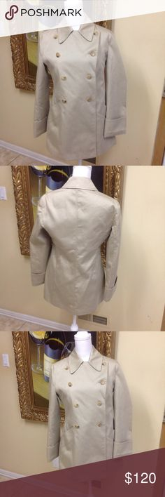 Armani Collezioni Trench Jacket Stunning classic tan trench size 8 by designer Armani. Beautiful condition, great style, low price. Questions feel free to contact me. Armani Collezioni Jackets & Coats Trench Coats