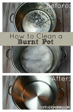 Using just 2 ingredients, check out how to clean the burnt residue from a pot. I'm amazed at my results!