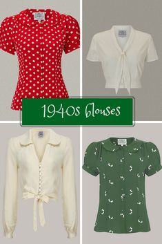 1940s blouses for every occasions