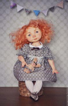 Купить ПУГОВКА Авторская коллекционная будуарная кукла - кукла, кукла интерьерная, кукла ручной работы