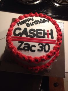 Case IH birthday cake