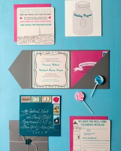 Colorful Contrast  and 21 More Spring Wedding Invitations That Are Truly a Breath of Fresh Air