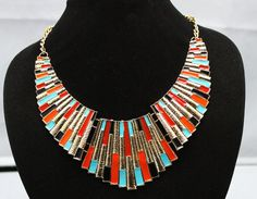 Hey, I found this really awesome Etsy listing at https://www.etsy.com/uk/listing/195247622/stunning-statement-necklace-chunky-bib