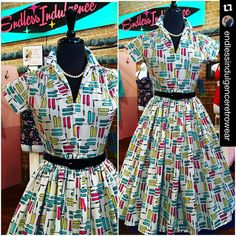Here's another fabulous addition to your wardrobe Kittens.....S - XL available at Endless Indulgence Retro Wear   #springstyle #retrofashion #vintageinspired #makeup #historic25thstreet #ogden #berniedexter #utahspinupshop #classicfashion