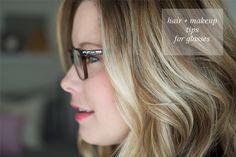 hair & makeup tips for glasses