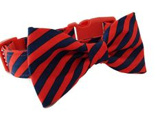 Dog Collar and  Bow Tie Set, Prep School Stripe, Adjustable sizes for small, medium, large, and extra large, dogs by colormehappycollars. Explore more products on http://colormehappycollars.etsy.com