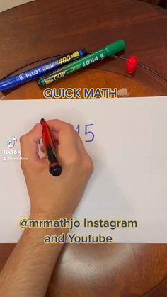 Math Work, Fun Math, Math Games, Mental Math Tricks, Cool Math Tricks, Life Hacks For School, School Study Tips, Math Tutorials, Math Charts