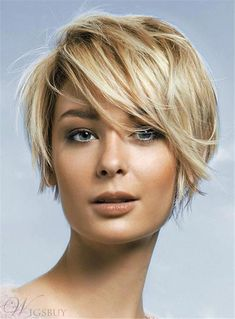 #WigsBuy - #WigsBuy Trending Short Cut Straight Capless Synthetic Hair Women Wig 8 Inches - AdoreWe.com