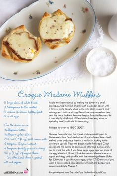 Croque Madame Muffins. Recipe adapted from The Little Paris Kitchen by Rachel Khoo