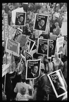 President Gerald Ford's supporters at the Republican National Convention, Kansas City, Missouri