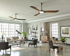 "The Minimalist Max Collection: Building on the enthusiasm for the Minimalist ceiling fan, an even larger 72"" version is now available, now damp rated and featuring a powerful DC motor."