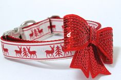 Winter Dog Collar in Raindeer perfect for Christmas by MuttsnBones on Etsy https://www.etsy.com/listing/208870660/winter-dog-collar-in-raindeer-perfect