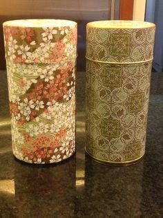 Teavana tea canisters