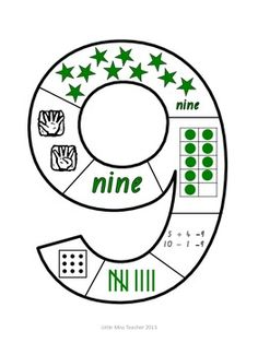 Number Puzzles (Numbers 1 - 9 Included) Literacy And Numeracy, Kindergarten Centers, Kindergarten Math Worksheets, Kindergarten Graduation, Math Activities, Maths, Teaching Numbers, Numbers Preschool, Math Numbers