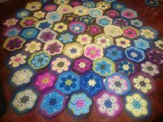 African flower blanket...in progress