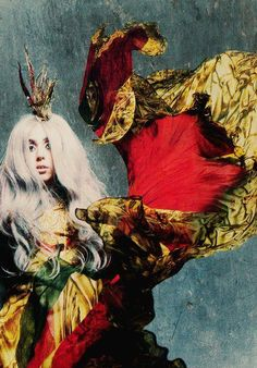Dress by McQueen, An     Dress by McQueen, Angels & Demons. Lady Gaga photographed by Nick Knight for Vanity Fair, 2010.