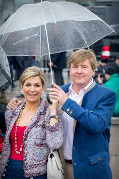 King Willem-Alexander & Queen Maxima attend a lunch on the Norwegian Royal yatch 'Norge'to celebrate the 80th...