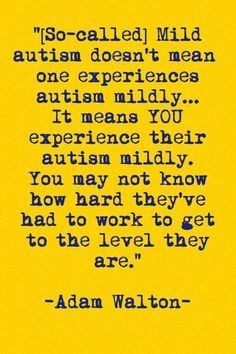 "Autism is Autism... there is no true definition for ""mild to moderate."""