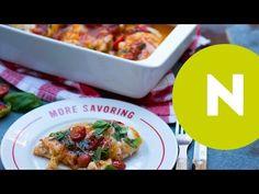Bazsalikomos-mozzarellás csirke - YouTube