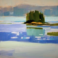 """""""Spring Island"""" by Philip Frey. 24""""x24"""" Oil. Available at Maine Art Paintings and Sculpture."""