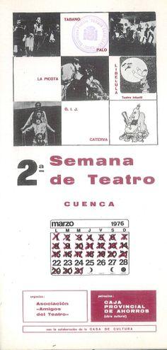 """""""Segunda Semana de Teatro Cuenca"""", Marzo 1976 organizada por la Asociación Amigos del Teatro de Cuenca #Cuenca #Teatro #AsociacionAmigosTeatroCuenca"""