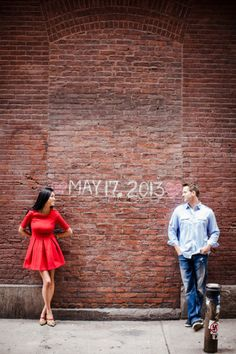 Engagement shot...and love this dress!