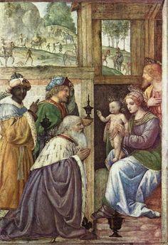 Бернардино Луини. Поклонение волхвов / Bernardino Luini. Adoration of the Magi