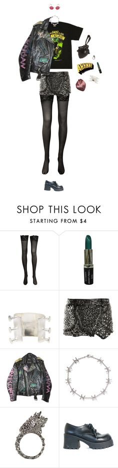 """""""AHHHHH!"""" by lucyh2204 ❤ liked on Polyvore featuring Pamela Love, Natalia Brilli, Balmain and Alexander McQueen"""