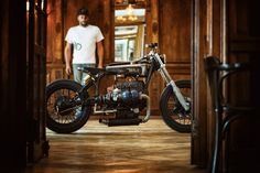 Custom Build by Austria's Titan Motorcycles is very different, though—and unlike many builds that try to be different, it works beautifully. Lead Tech and Lead Build Michael Siebenhofer, BSA branding, Art Nouveau-style, real Austrian coffeehouse racer  Clemens Humeniuk Kooky Photography . . . . #titanmotorcycles #custom #motorcycle #handcrafted #austria #caferacer #vintage #bikes #lifestyle #motorrad #markyourterritory » #bmw #r90 Bmw Boxer, Motorcycle Workshop, Motorcycle Companies, Cafe Racer, Mans World, Custom Bikes, Austria, Vintage Bikes