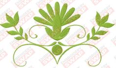 Free green decoration Machine Embroidery Design File Embroidery Files, Machine Embroidery Designs, Green Decoration, Design Files, Free, Greenery Decor