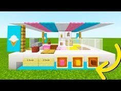 "Minecraft Tutorial: How To Make A Ice Cream Stand City Tutorial"" Minecraft Shops, Minecraft Mansion, Cute Minecraft Houses, Minecraft City, Minecraft Room, Minecraft Plans, Minecraft Construction, Amazing Minecraft, Minecraft Tutorial"